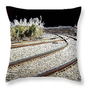 Rails Of Hope Throw Pillow