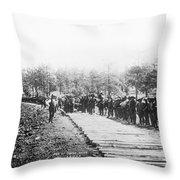Railroad Construction Throw Pillow