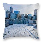 Rare Winter Scenery Around Charlotte North Carolina Throw Pillow