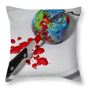 Reflected Globe Throw Pillow