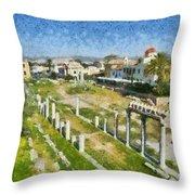 Roman Market Throw Pillow