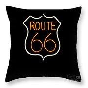Route 66 Edited Throw Pillow