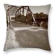 Route 66 - One Lane Bridge Throw Pillow