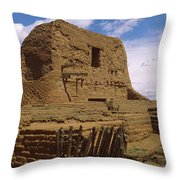 Ruins Of The Pecos Pueblo Mission Throw Pillow
