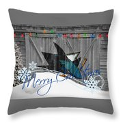 San Jose Sharks Throw Pillow