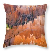 Sandstone Hoodoos In Bryce Canyon  Throw Pillow