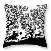Silhouette, 19th Century Throw Pillow