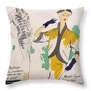Sketches And Fabric Swatches Throw Pillow