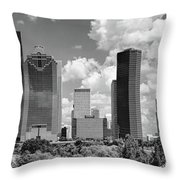 Skyscrapers In A City, Houston, Texas Throw Pillow
