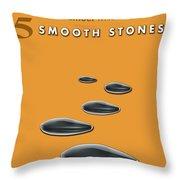 5 Smooth Stones Throw Pillow