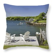 South Bristol On The Coast Of Maine Throw Pillow