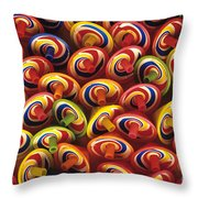 Spinning Tops Throw Pillow