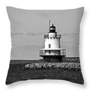 Spring Point Ledge Lighthouse Throw Pillow