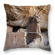 Spruce Tree House Mesa Verde National Park Throw Pillow