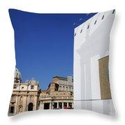 St Peter's Square. Vatican City. Rome. Lazio. Italy. Europe  Throw Pillow
