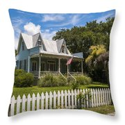 Sullivan's Island Tin Roof Story Book Cottage Throw Pillow