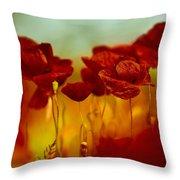 Summer Poppy Throw Pillow by Nailia Schwarz