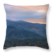 Sunrise In Cades Cove Throw Pillow