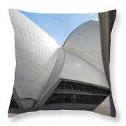 Sydney Opera House Detail In Australia  Throw Pillow