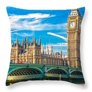 The Big Ben - London Throw Pillow