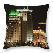 The Bund, Shanghai Throw Pillow