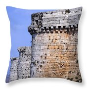 The Crusader Castle Krak Des Chevaliers Syria Throw Pillow