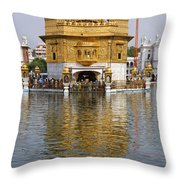 The Golden Temple At Amritsar India Throw Pillow