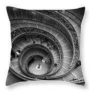The Vatican Stairs Throw Pillow