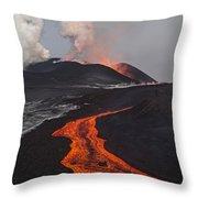 Tolbachik Volcano Erupting Kamchatka Throw Pillow