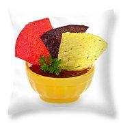 Tortilla Chips And Salsa Throw Pillow