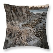 Tufa Formations, Mono Lake, Ca Throw Pillow