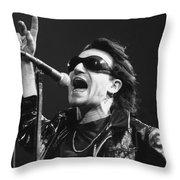 U2 - Bono Throw Pillow