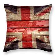 Union Jack Flag  Throw Pillow