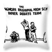 The Langmore Regional High School Inner Debate Throw Pillow