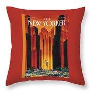 New Yorker August 3rd, 2015 Throw Pillow