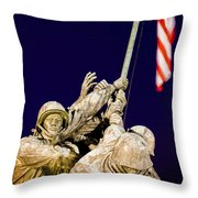 Us Marine Corps Memorial Throw Pillow