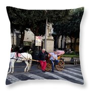Views From Sorrento Italy Throw Pillow