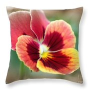 Viola Named Penny Red Blotch Throw Pillow