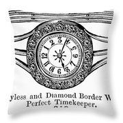 Watch Bracelet, 1891 Throw Pillow