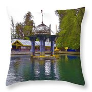 Water Tank And Premises Inside The Mattan Temple Throw Pillow