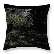 Weeds And Plants In A Coastal Saltwater Creek Throw Pillow