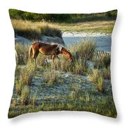 Wild Spanish Mustang Throw Pillow