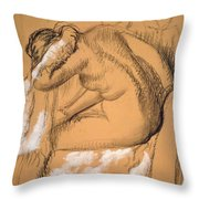 Woman Drying Herself  Throw Pillow by Edgar Degas
