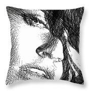Woman Sketch Throw Pillow