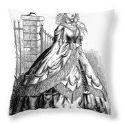 Women's Fashion, 1860 Throw Pillow