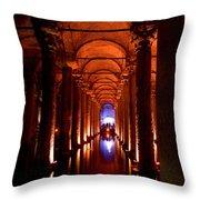 Yerebatan Sarayi Cistern Istanbul  Turkey  Throw Pillow
