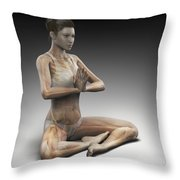 Yoga Meditation Pose Throw Pillow