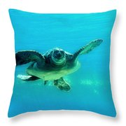 Green Submarine Throw Pillow