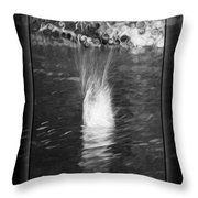 50 Shades Of Grey Abstract Black And White Painting Throw Pillow