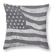 50 Stars 13 Stripes Throw Pillow